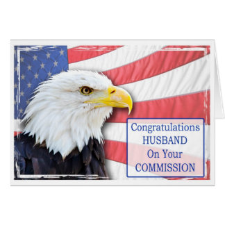 Husband,commissioning with a bald eagle greeting card