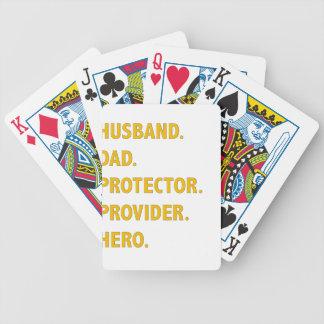 Husband, Dad Bicycle Playing Cards