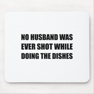 Husband Doing Dishes Mouse Pad
