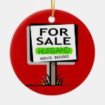 Husband for Sale Funny Christmas Ornament
