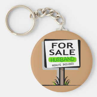 Husband for Sale Basic Round Button Key Ring