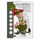 Husband Golfer Birthday Greeting Card With Humour