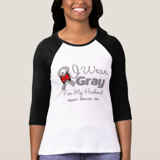 Husband - Gray Ribbon Awareness Shirts