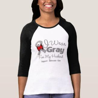 Husband - Gray Ribbon Awareness T-Shirt