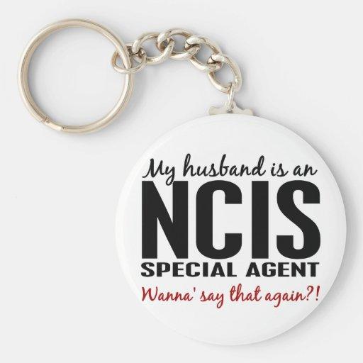 Husband Is An NCIS Agent Keychain