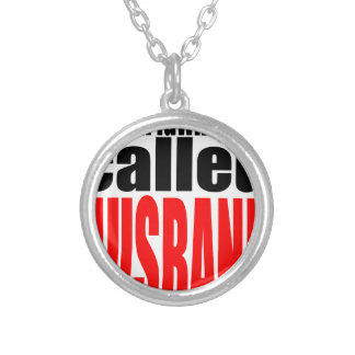 husband marriage joke lawnmover newlywed reality q silver plated necklace