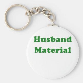 Husband Material Keychain