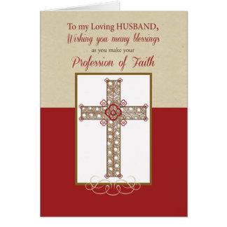 Husband, RCIA Blessings on Profession of Faith, Cr Card