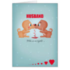 Husband Valentine's Day Kissing Dogs And Hearts Card