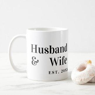 Husband & Wife Mug with Wedding Date