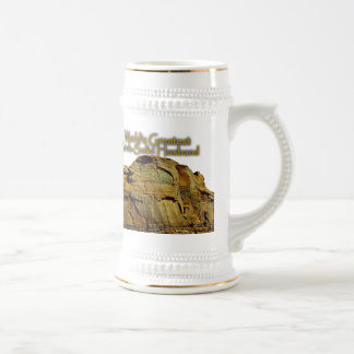 Husband's Rock-Solid White Beer Stein