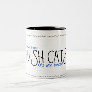 HUSH CATS! Ver. 2 Two-Tone Coffee Mug
