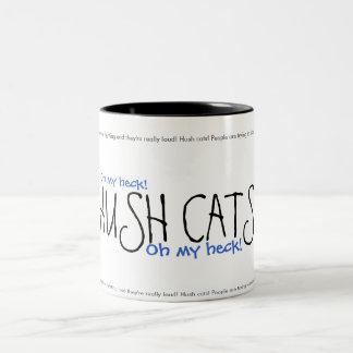HUSH CATS! Ver. 2 Two-Tone Mug