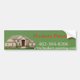 HUSKERS PAINTING BUMPER STICKER