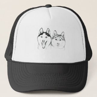 huskies Love Trucker Hat