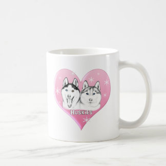 Huskies Pink Coffee Mug