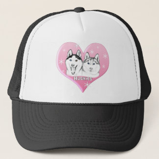 Huskies Pink Trucker Hat