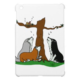 Huskies singing to the birds iPad mini covers