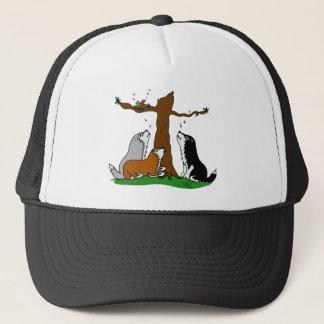 Huskies singing to the birds trucker hat