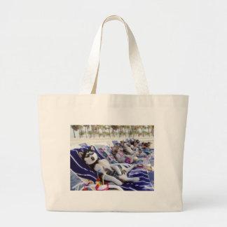 huskies sunbath bags