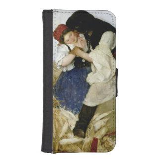 Husking Corn, 1885 iPhone 5 Wallet Cases