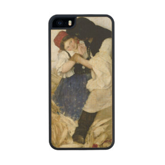 Husking Corn, 1885 Wood iPhone SE/5/5s Case