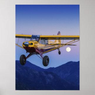 Husky Alpine Moonrise Poster