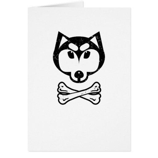 Husky and bones card