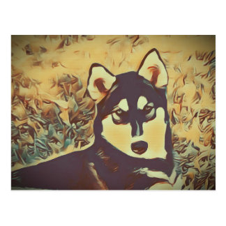 Husky Art Deco #2 Postcard
