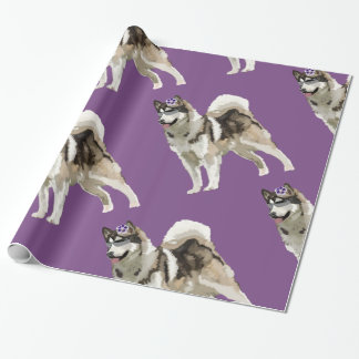 Husky Art Wrapping Paper