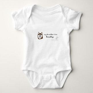 husky baby bodysuit