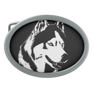 Husky Belt Buckle Husky Malamute Sled Dog Buckles