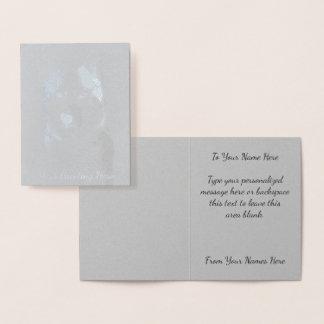Husky Cards Personalized Husky Dog Cards Silver