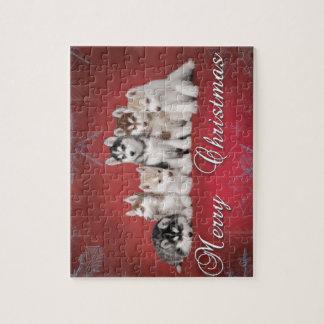 Husky christmas jigsaw puzzle