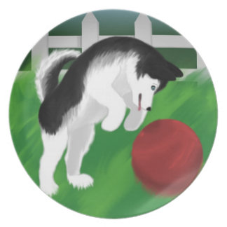 Husky Decorative Plate