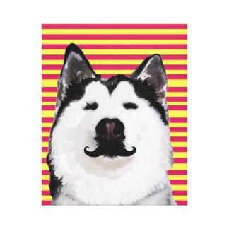 Husky Dog Stripes  Single Wall Art