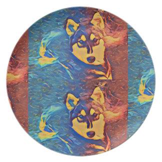 Husky Duo Melamine Plate #1