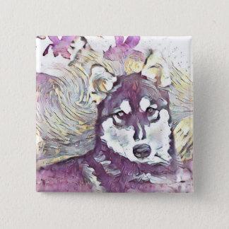 Husky Flower Button