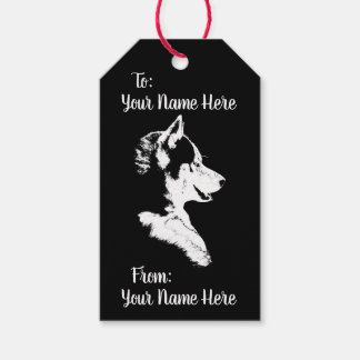 Husky Gift Tags Personalized Husky Pup Gift Tags