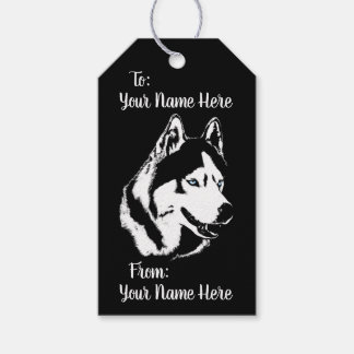 Husky Gift Tags Personalized Sled Dog Gift Tags