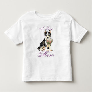 Husky Heart Mom Tee Shirt