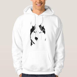 Husky Hoodie Sled Dog Hooded Sweatshirt Dog Shirts