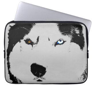 Husky Laptop Case Siberian Husky Eyes Gifts