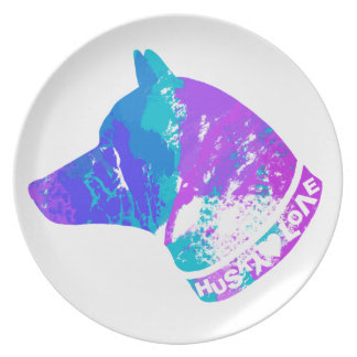 HUSKY Love (Violet) Plate