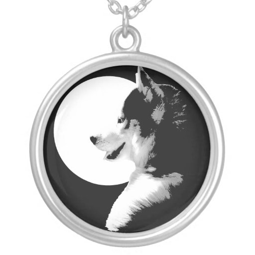 Husky Necklace Malamute / Husky Art Jewellery Gift