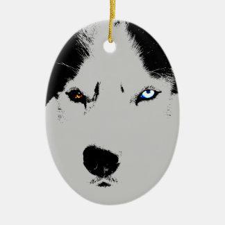 Husky Ornament Personalized Sled Dog Decoration
