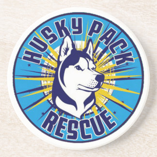 Husky Pack Rescue Logo Items Beverage Coaster