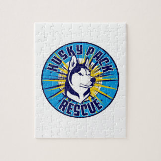 Husky Pack Rescue Logo Items Jigsaw Puzzle