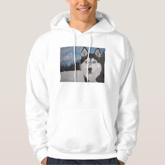 Husky painting hoodie