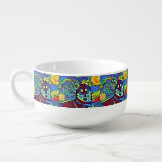 Husky Pepper Colorful Astral Soup Mug